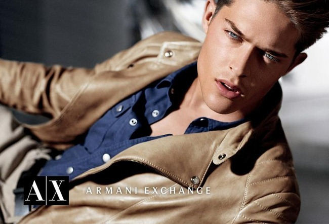 CAMPAIGN Cesar Casier & Arran Sly for Armani Exchange Fall 2012 by Matthew Scrivens. Sally Lyndley, www.imageamplified.com, Image Amplified (1)