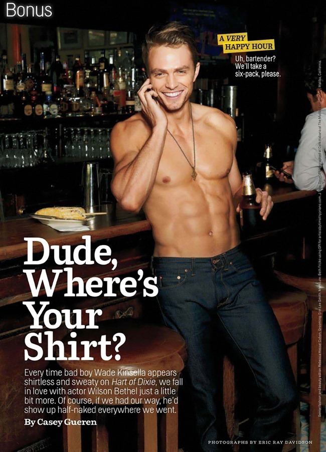 COSMOPOLITAN MAGAZINE Wilson Bethel in Dude, Where's Your Shirt by Eric Ray Davidson. www.imageamplified.com, Image Amplified (4)
