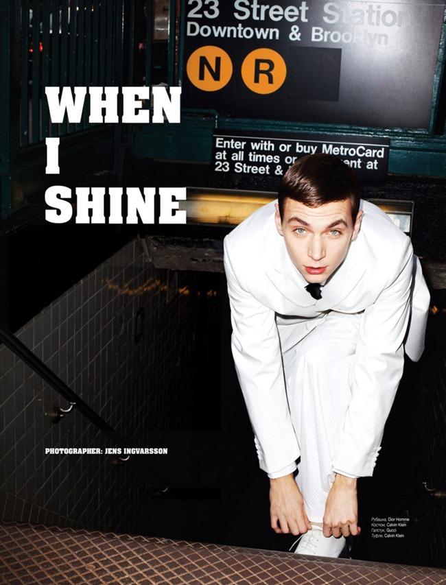 L'OFFICIEL HOMMES UKRAINE- Yuri Pleskun in When I Shine by Jens Ingvarsson. Katie Burnett, December 2011, www.imageamplified.com, Image Amplified0