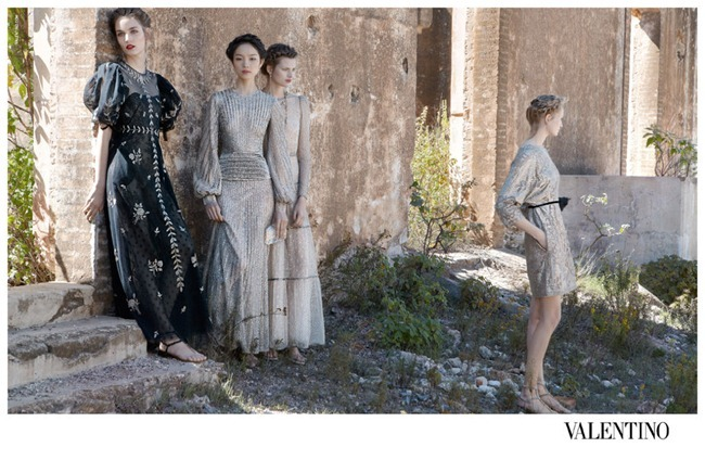CAMPAIGN- Bette Franke, Fei Fei Sun, Zuzanna Bijoch & Maud Welzen for Valentino Spring 2012 by Deborah Turbeville. www.imageamplified.com, Image Amplified9