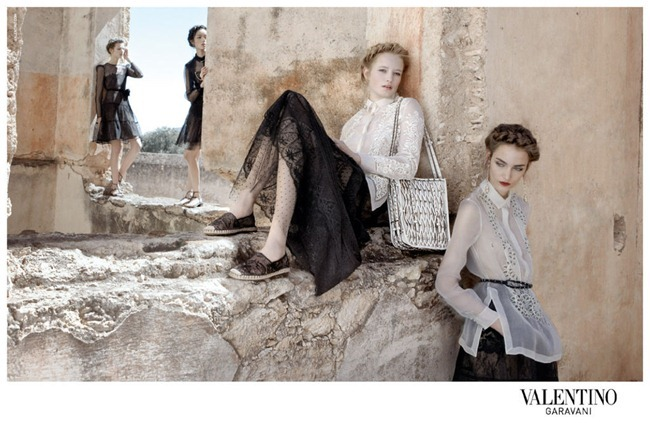 CAMPAIGN- Bette Franke, Fei Fei Sun, Zuzanna Bijoch & Maud Welzen for Valentino Spring 2012 by Deborah Turbeville. www.imageamplified.com, Image Amplified6