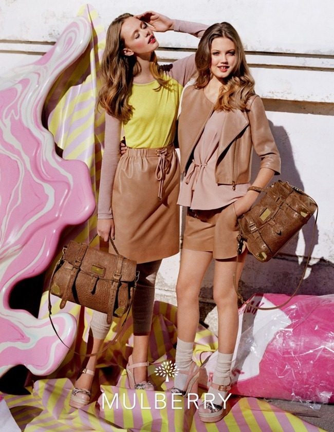 CAMPAIGN- Lindsey Wixson & Frida Gustavsson for Mulberry Spring 2012 by Tim Walker. Edward Enninful, www.imageamplified.com, Image Amplified0