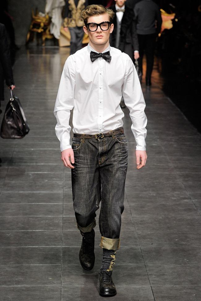 MILAN FASHION WEEK- Dolce & Gabbana Men's Fall 2012. www.imageamplified.com, Image Amplified1 (2)