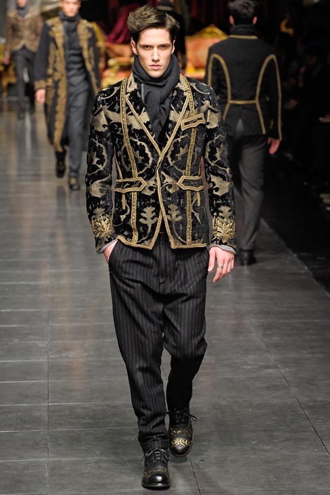 MILAN FASHION WEEK- Dolce & Gabbana Men's Fall 2012. www.imageamplified.com, Image Amplified2 (6)