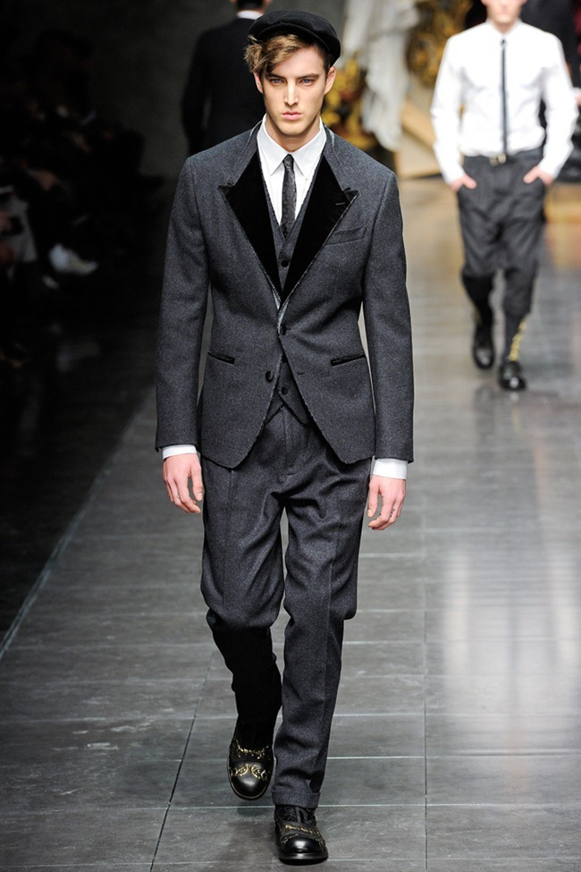 MILAN FASHION WEEK- Dolce & Gabbana Men's Fall 2012. www.imageamplified.com, Image Amplified2