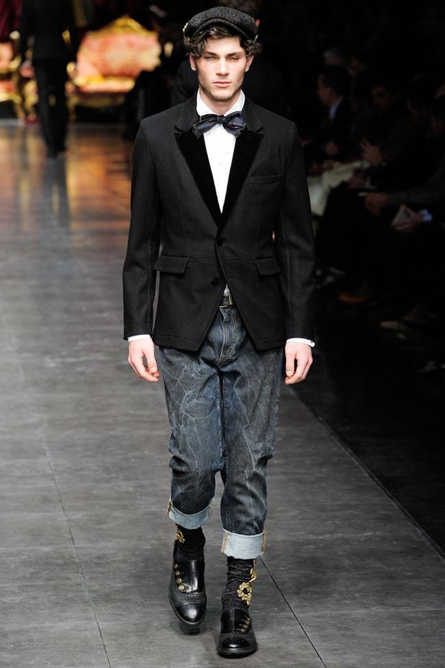 MILAN FASHION WEEK- Dolce & Gabbana Men's Fall 2012. www.imageamplified.com, Image Amplified8