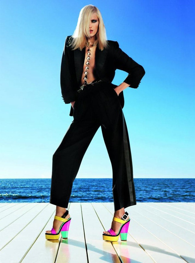 CAMPAIGN- Anja Rubik for Giuseppe Zanotti Spring 2012 by Inez & Vinoodh. www.imageamplified.com, Image Amplified9