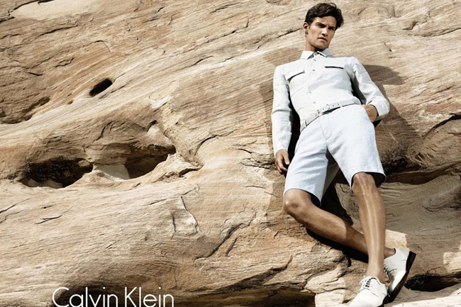 CAMPAIGN- Lily Donaldson, Danny Beauchamp & Vladimir Ivanov for Calvin Klein White Label Spring 2012 by Sebastian Kim. www.imageamplified.com, Image Amplified5