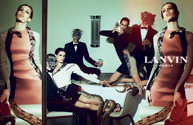 CAMPAIGN Johannes Schulze, Angus Low, Aaron Vernon, Othilia Simon, Aymeline Valade & Marte Mei van haaster for Lanvin Spring 2012 by Steven Meisel. www.imageamplified.com, Image Amplified (4)