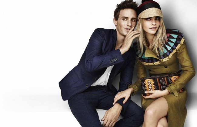 CAMPAIGN- Eddie Redmayne & Cara Delevingne for Burberry Spring 2012 by Mario Testino. www.imageamplified.com, Image Amplified7