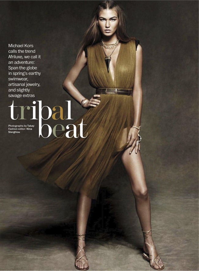 MARIE CLAIRE MAGAZINE- Tallulah Morton in Tribal Beat by Takay. Nina Sterghiou, March 2012, www.imageamplified.com, Image Amplified6