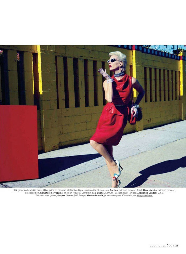 ELLE MAGAZINE hannelore Knuts in Retro Active by Horst Diekgerdes. Brian Molloy, March 2012, www.imageamplified.com, Image Amplified (1)
