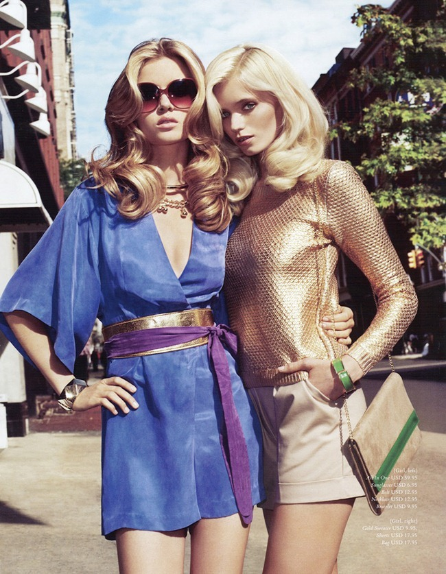 H&M MAGAZINE Abbey Lee Kershaw & Josephine Skriver in Ready Steady Gold by Terry Richardson. Julia Von Boehm, Spring 2012, www.imageamplified.com, Image Amplified (1)