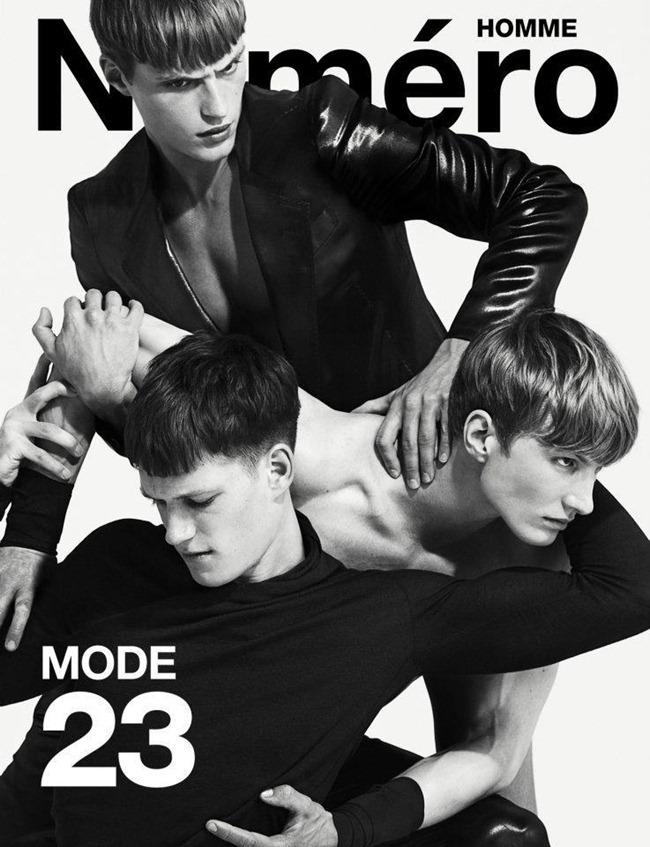 NUMERO HOMME MAGAZINE- Florian Van Bael, Adrien Brunier & Joachim Clausen by Matthew Brookes. Spring 2012, Serge Girardi, www.imageamplified.com, Image Amplified9