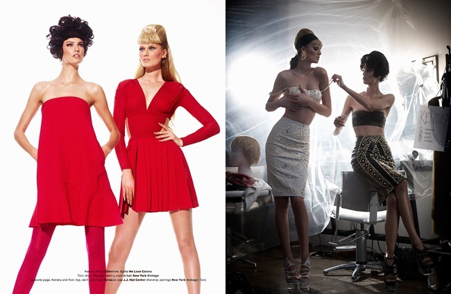 MUSE MAGAZINE- Kendra Spears & Toni Garrn in Lady Doll by Mariano Vivanco. Beth Fenton, Spring 2012, www.imageamplified.com, Image Amplified3