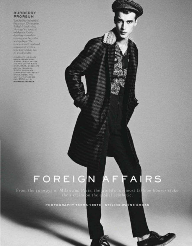 GQ STYLE GERMANY- Clement Chabernaud in Foreign Affair by Txema Yeste. Wayne Gross, Spring 2012, www.imageamplified.com, Image Amplified6