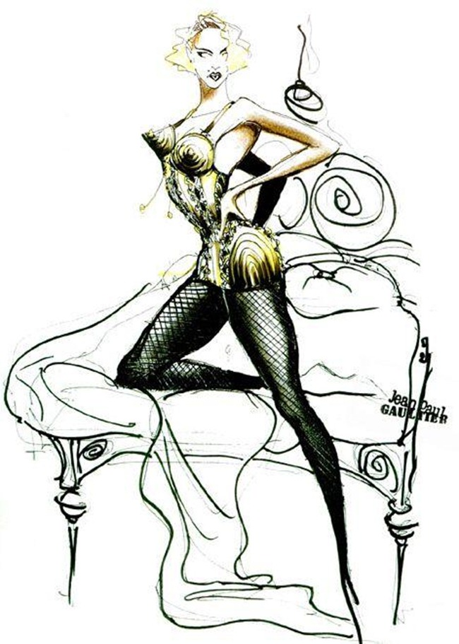 WE ♥ JEAN PAUL GAULTIER- Madonna's Blond Ambition Tour Sketches by Jean Paul Gaultier. www.imageamplified.com, Image Amplified (3)