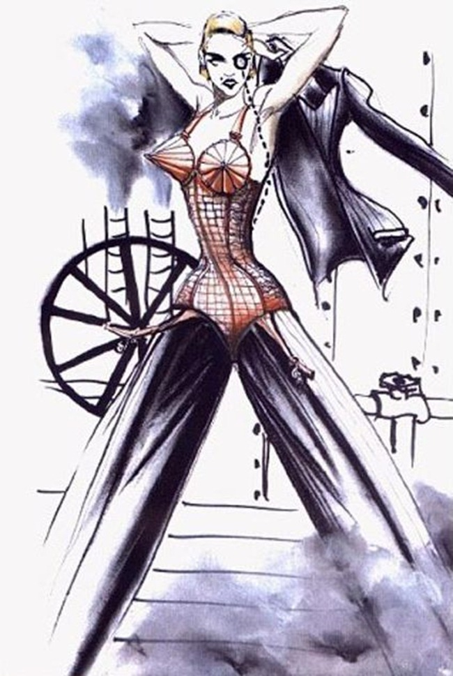 WE ♥ JEAN PAUL GAULTIER- Madonna's Blond Ambition Tour Sketches by Jean Paul Gaultier. www.imageamplified.com, Image Amplified (1)