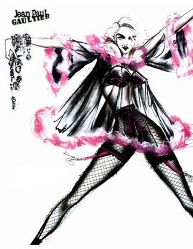 WE ♥ JEAN PAUL GAULTIER- Madonna's Blond Ambition Tour Sketches by Jean Paul Gaultier. www.imageamplified.com, Image Amplified (8)