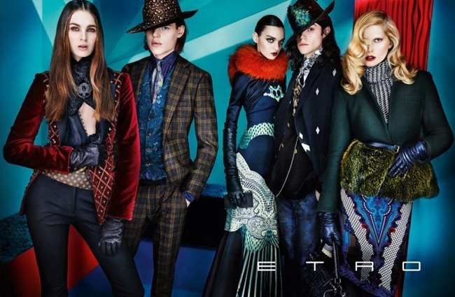 CAMPAIGN iselin Steiro, Magda Lagunge, Miles McMillan, Ton Heukels & Laura Love for Etro Fall 2012 by Mario Testino. www.imageamplified.com, Image Amplified (8)