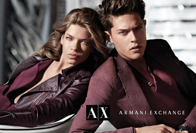 CAMPAIGN Cesar Casier & Arran Sly for Armani Exchange Fall 2012 by Matthew Scrivens. Sally Lyndley, www.imageamplified.com, Image Amplified (2)