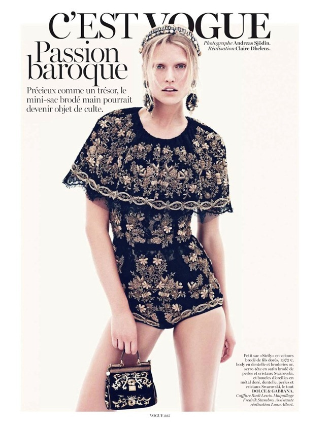 VOGUE PARIS Toni Garrn in C'est Vogue by Andreas Sjodin. Claire Dhelens, September 2012, www.imageamplified.com, Image Amplified (3)