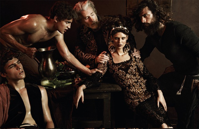 INTERVIEW GERMANY Bianca Balti, Sam Webb, Aiden Shaw, Chris Petersen, Chris B. & Christos in Baroque Fever by Giampaolo Sgura. Klaus Stockhausen, www.imageamplified.com, Image Amplified (2)