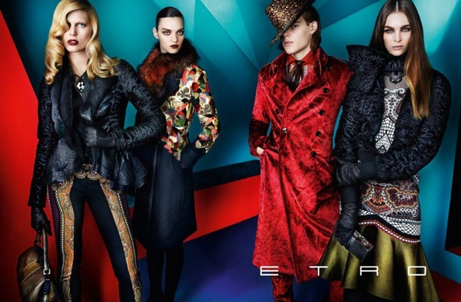 CAMPAIGN iselin Steiro, Magda Lagunge, Miles McMillan, Ton Heukels & Laura Love for Etro Fall 2012 by Mario Testino. www.imageamplified.com, Image Amplified (1)