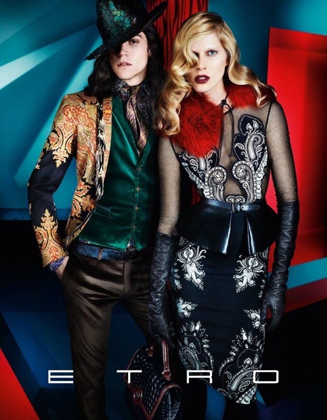 CAMPAIGN iselin Steiro, Magda Lagunge, Miles McMillan, Ton Heukels & Laura Love for Etro Fall 2012 by Mario Testino. www.imageamplified.com, Image Amplified (4)