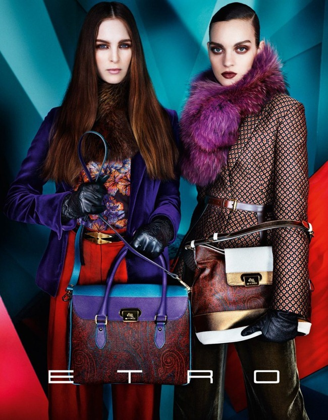 CAMPAIGN iselin Steiro, Magda Lagunge, Miles McMillan, Ton Heukels & Laura Love for Etro Fall 2012 by Mario Testino. www.imageamplified.com, Image Amplified (5)