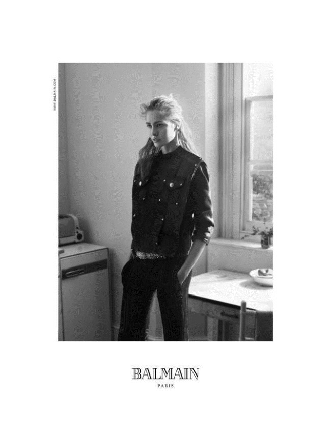 CAMPAIGN Nadja Bender & Clement Chabernaud for Balmain Fall 2012 by David Sims. www.imageamplified.com, Image Amplified (2)
