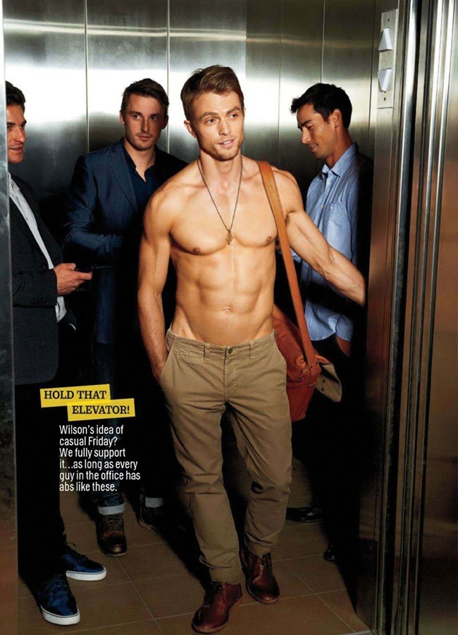 COSMOPOLITAN MAGAZINE Wilson Bethel in Dude, Where's Your Shirt by Eric Ray Davidson. www.imageamplified.com, Image Amplified (3)