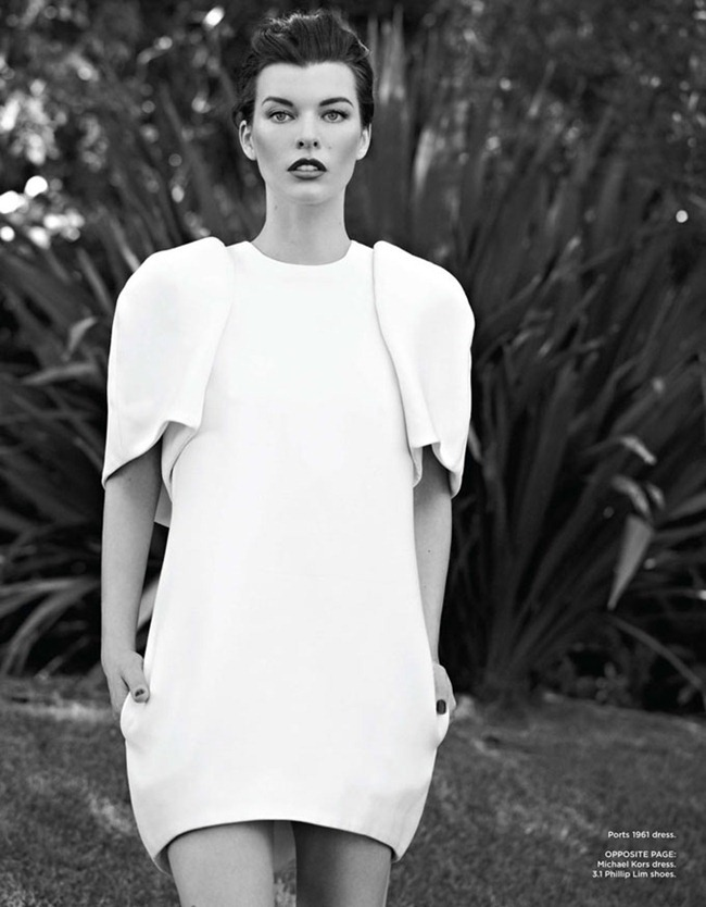 FLARE MAGAZINE Milla Jovovich in Maximum Milla by Max Abadian. Elizabeth Cabral, October 2012, www.imageamplified.com, Image Amplified (2)