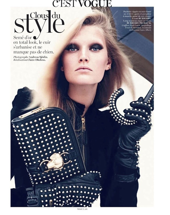 VOGUE PARIS Toni Garrn in C'est Vogue by Andreas Sjodin. Claire Dhelens, September 2012, www.imageamplified.com, Image Amplified (2)