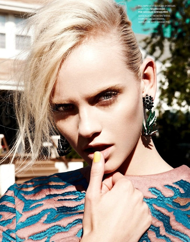 ELLE FRANCE Ginta Lapina in All That Chic by Nagi Sakai. Michele Beaurenaut, August 2012, www.imageamplified.com, Image Amplified (20)