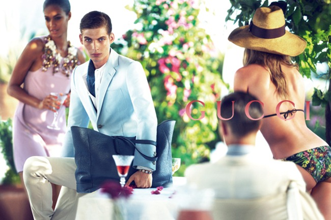 CAMPAIGN Karmen Pedaru, Joan Smalls, Nadja Bender, Janis Ancens & Baptiste Radufe for Gucci Resort 2013 by Mert  & Marcus. www.imageamplified.com, Image Amplified (1)