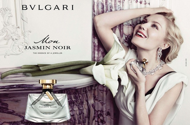 CAMPAIGN Kristen Dunst for Bulgari Mon Jasmin Noir by Inez & Vinoodh. George Cortina, www.imageamplified.com, Image Amplified