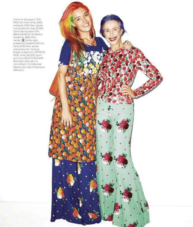 HARPER'S BAZAAR MAGAZINE Chloe Norgaard & Beatrix Ost in In Living Color by Terry Richardson. Leslie Lessin, November 2012, www.imageamplified.com, Image Amplified (5)