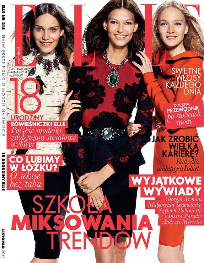 ELLE POLAND Emilia Nawarecka, Maja Salamon & Karolina Waz by Zuza Krajewska & Bartek Wieczorek. November 2012, www.imageamplified.com, Image Amplified (4)
