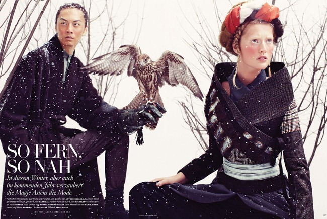 VOGUE GERMANY- Tony Garrn & David Chiang in So Fern, So Nah by Christiane Arp. Alexi Lubomirski December 2012, www.imageamplified.com, Image Amplified