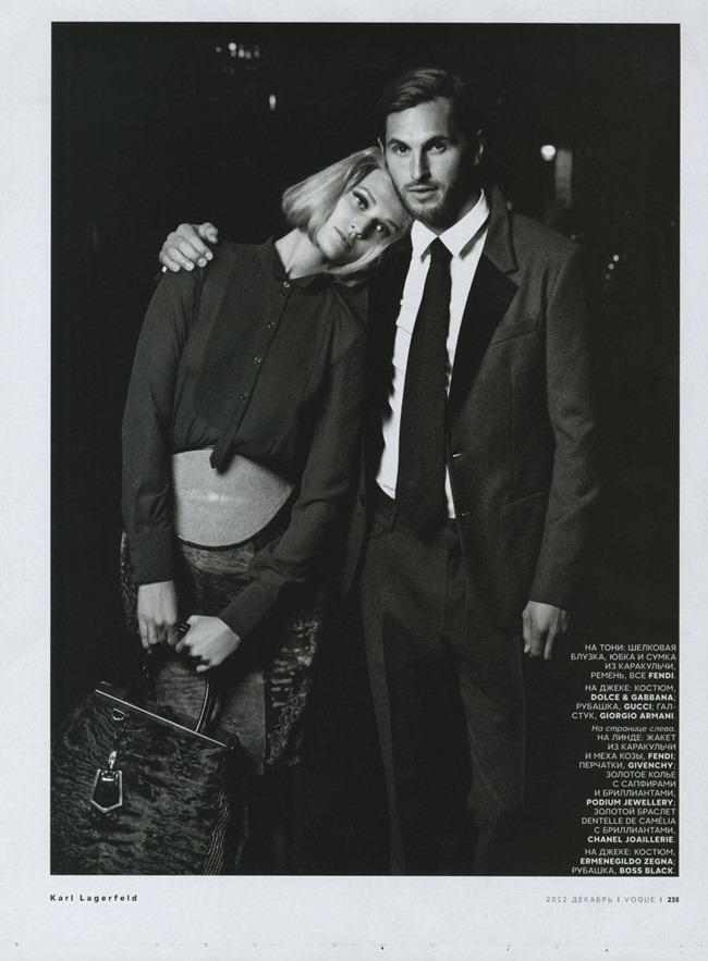 VOGUE RUSSIA- Toni Garrn & Linda Evangelista by Karl Lagerfeld. Ekaterina Mukhina, December 2012, www.imageamplified.com, Image Amplified (1)