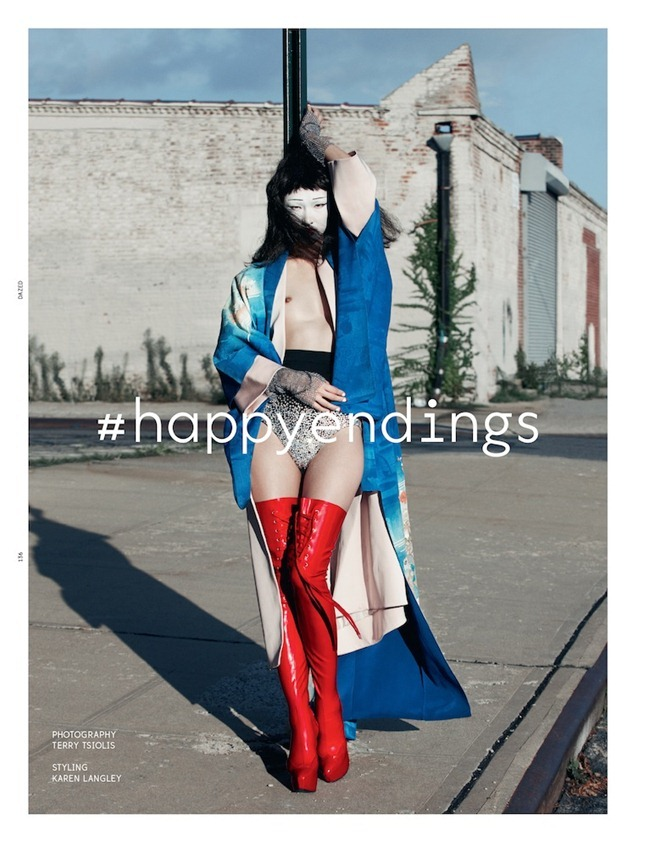 DAZED & CONFUSED MAGAZINE- Dinara, Lily Zhi, Soo Joo, So Young & Tian Yi in #happyendings by Terry Tsiolis. Karen Langley, December 2012, www.imageamplified.com, Image Amplified