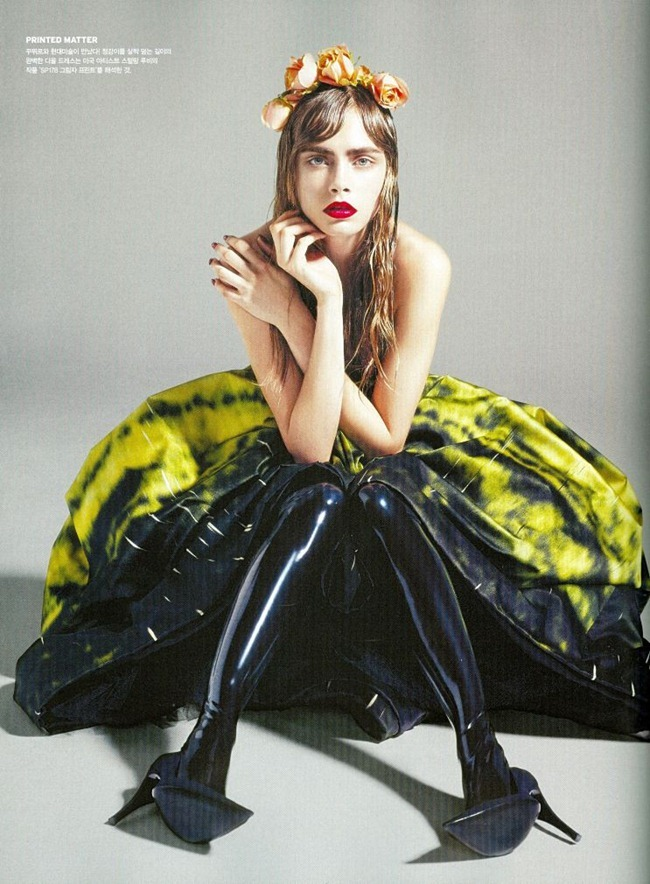 VOGUE KOREA- Cara Delevigne in Flower Girl by Sanchez & Mongiello. Ye Young Kim, December 2012, www.imageamplified.com, Image Amplified (2)