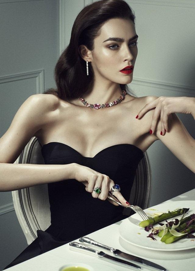 VOGUE JAPAN- Patrycja Gardygajlo in Jeweled Amour by Rene Habermacher. Rena Semba, January 2013, www.imageamplified.com, Image Amplified