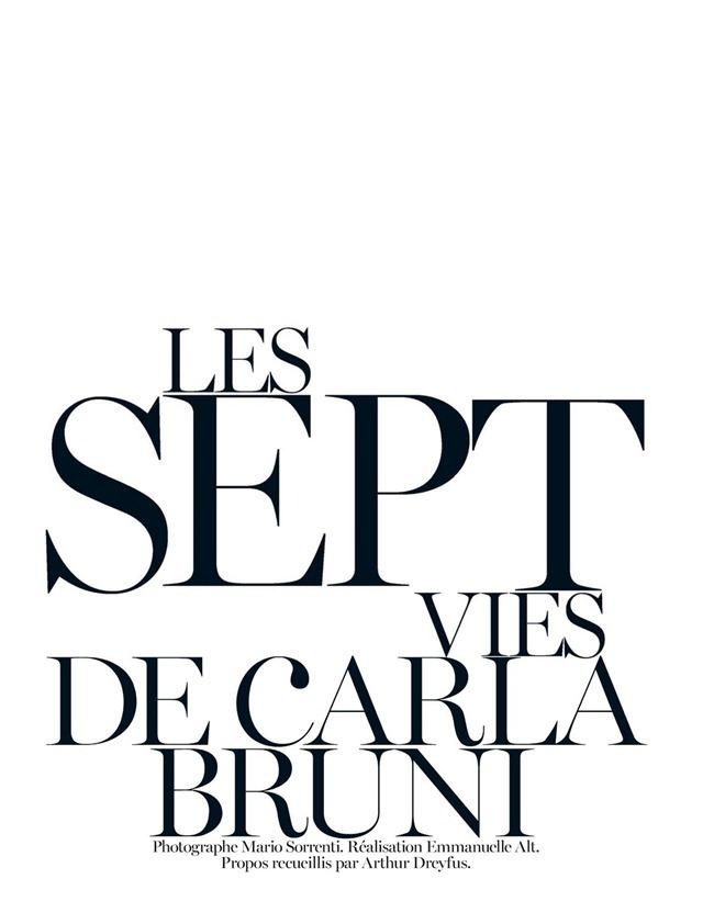 VOGUE PARIS- Carla Bruni-Sarkozy in Les Sept Vies de Carla Bruni by Mario Sorrenti. Emmanuelle Alt, December 2012, www.imageamplified.com, Image Amplified
