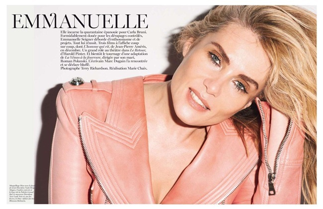 VOGUE PARIS- Emmanuelle Seigner in Emmanuelle by Terry Richardson. Marie Chaix, December 2012, www.imageamplified.com, Image Amplified