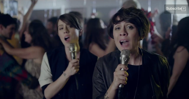 "SOUND CAFFEINE: Tegan and Sara, ""Closer"" Music Video. Image Amplified www.imageamplified.com"
