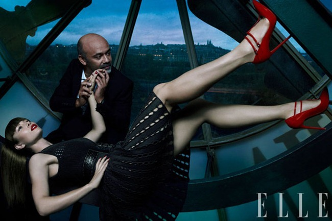 ELLE MAGAZINE- Jessica Biel, Giambattista Valli, Jean Paul Gaultier, Azzedine Alaia & Christian Louboutin in Fantastic Voyage by Thomas Whiteside. Joe Zee, January 2013, www.imageamplified.com, Image Amplified (4)