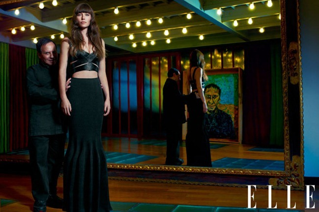 ELLE MAGAZINE- Jessica Biel, Giambattista Valli, Jean Paul Gaultier, Azzedine Alaia & Christian Louboutin in Fantastic Voyage by Thomas Whiteside. Joe Zee, January 2013, www.imageamplified.com, Image Amplified (3)