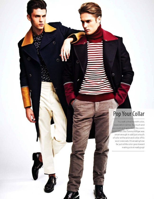 ESSENTIAL HOMME- Silviu Tolu & Jacques Naude in Top Coats by A.P. Kim. www.imageamplified.com, Image Amplified